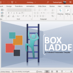 Climbing box ladder template for PowerPoint