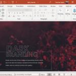 Animated dark PowerPoint template