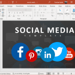 Animated social media template for PowerPoint