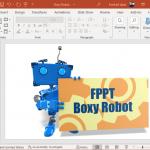 Custom text robot clipart