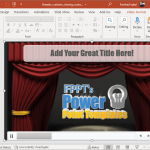 Theatre curtains closing video animation in PowerPoint