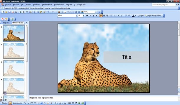 leopard free power point template