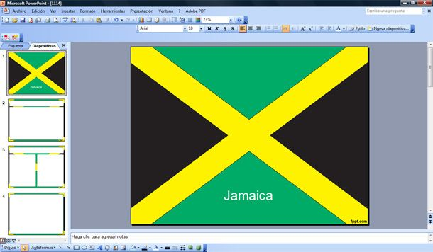 flag of jamaica powerpoint