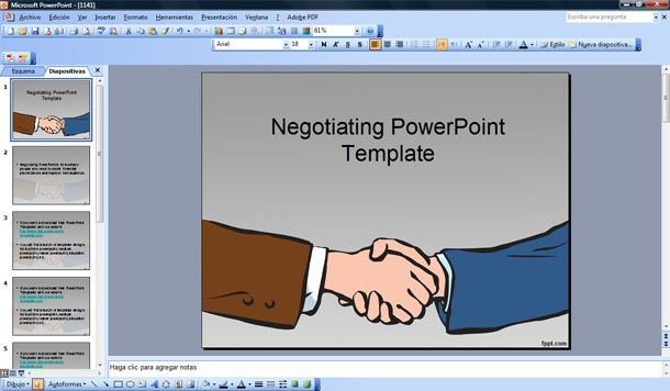 Negotiating Powerpoint Template