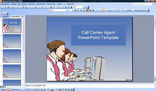 call center agent powerpoint template