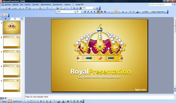 royal powerpoint template