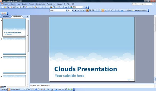 Best cloud computing powerpoint templates cloud powerpoint ppt template toneelgroepblik Gallery