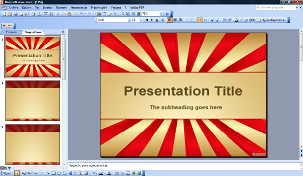 grandiose powerpoint template