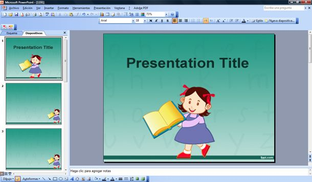 learning to read powerpoint template
