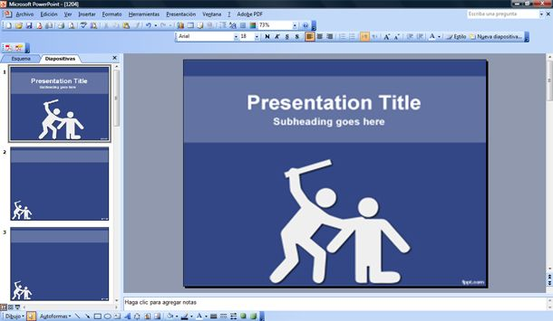 violence powerpoint template