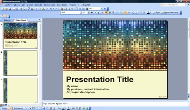 fancy powerpoint template