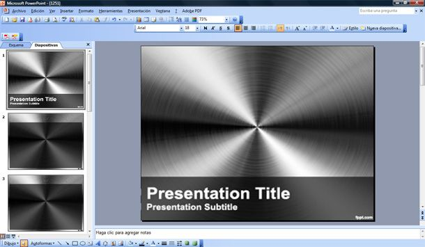 steel powerpoint template