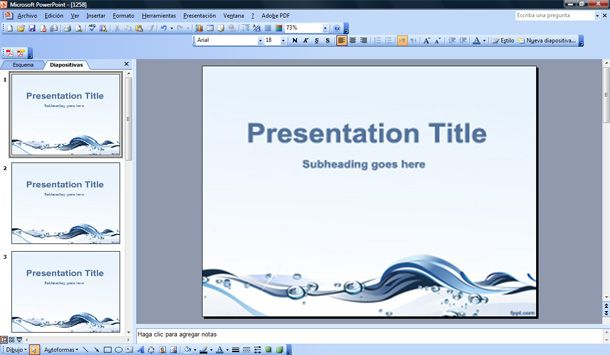 Powerpoint templates free water gallery powerpoint for Rutgers powerpoint template