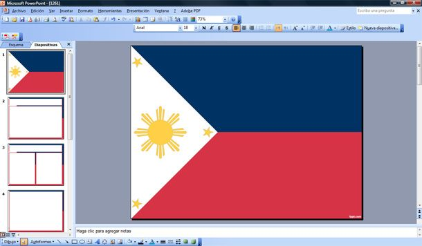 free flag of philippines powerpoint template