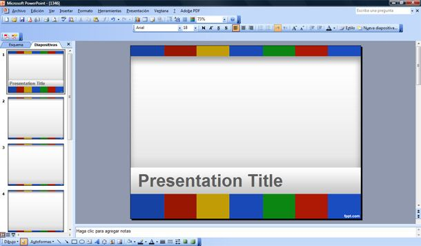 Google Presentation PowerPoint Template