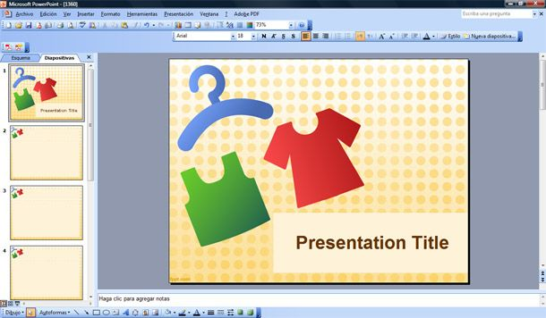 clothing powerpoint template