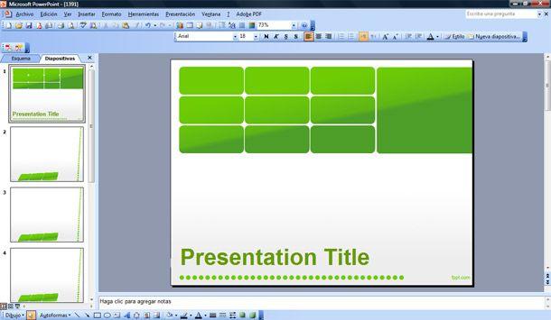 Green Business Powerpoint Template