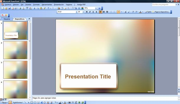 Blur Effect PowerPoint Template