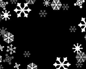 Snow Flakes Power Point Szablony