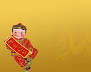 Chinese celebrating New Year