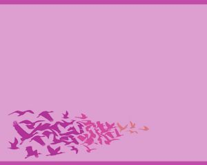 Free Birds Power Point Template with bird illustrations and purple background