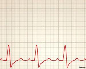 Cardiology rhythm Power Point Template