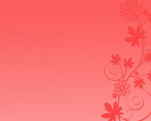 Free Red Flowers Power Point Template