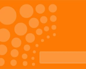 Free Orange PowerPoint Template with Dots in the Slide Design