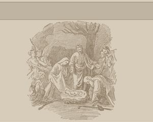 Free pic of Jesus in a PowerPoint template with sepia background and Jesus illustration