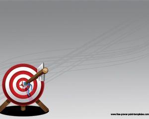 Free Arrow Target Powerpoint Template with Bullseye