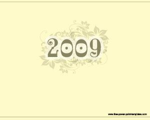 2009 Powerpoint Template