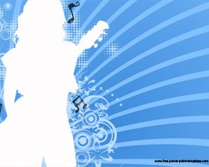 Music Girl Powerpoint Szablony