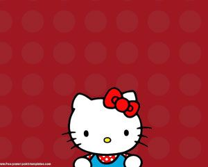 Hello Kitty Powerpoint Szablony