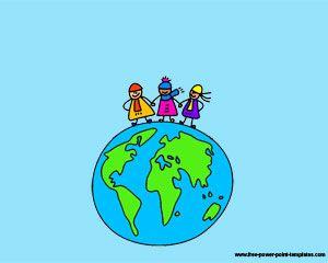 Human race's day Powerpoint Szablony