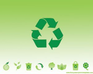 green recycling power point template