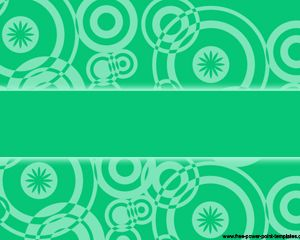 Green retro Powerpoint Szablony