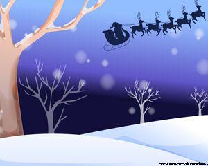 Santa Claus in his sleigh PPT