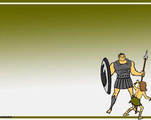 David y Goliath Powerpoint Template