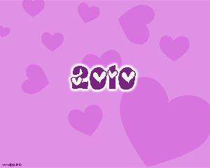 Love in new year 2010 Powerpoint Template