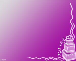 Celebration cake power point template