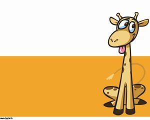 Giraffe cartoon power point template