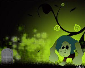 Free Halloween Monster PowerPoint with Frankenstein illustration