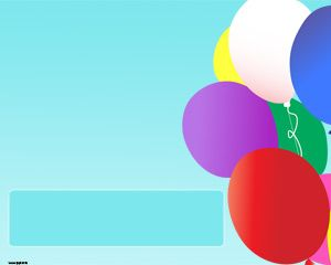 Colorful Balloons PPT Template with balloons slide design