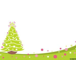 Free Nice Christmas PowerPoint design with Christmas Tree and white background
