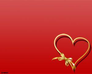 Plantilla PowerPoint de Corazón y Amor Gratis
