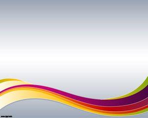 Corriente de Colores Powerpoint Plantilla