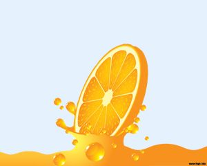 orange juice powerpoint template is a natural orange juice background ...