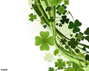 Clovers of St. Patrick's day PPT Template