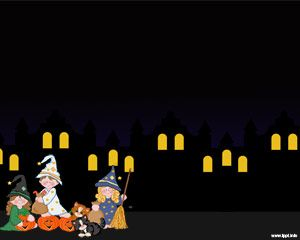 Noche de Halloween Powerpoint Template