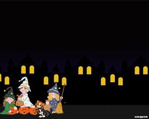 Noche de Halloween Powerpoint Template PPT Template